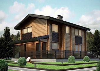 طرح پیشنهادی با پلان اجرایی ویلای چوبی  متراژ دویست متر  دو طبقه