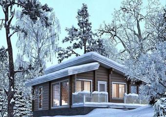 طرح پیشنهادی با پلان اجرایی ویلای چوبی  متراژ صد و بیست متر  فلت