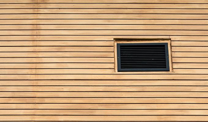 تهویه خانه چوبی